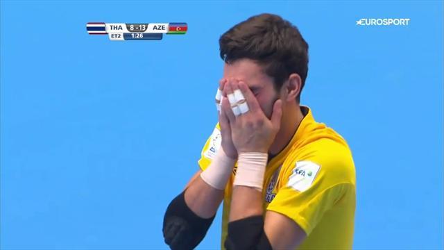 Futsal-WM: Da darf sogar der Torwart! 21 Tore im Achtelfinale Thailand vs. Aserbaidschan