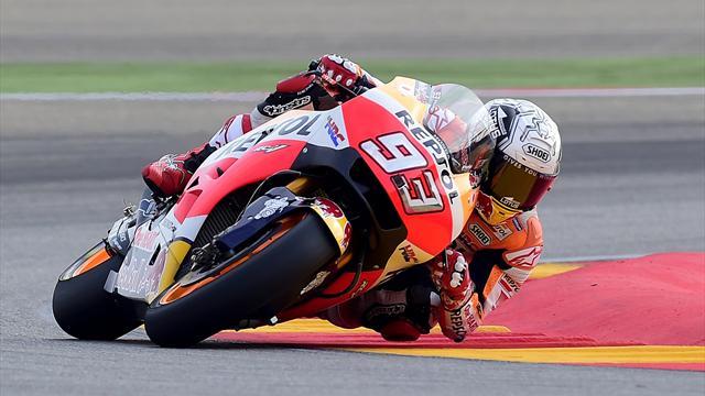 Libres 1 : Marquez devant Rossi