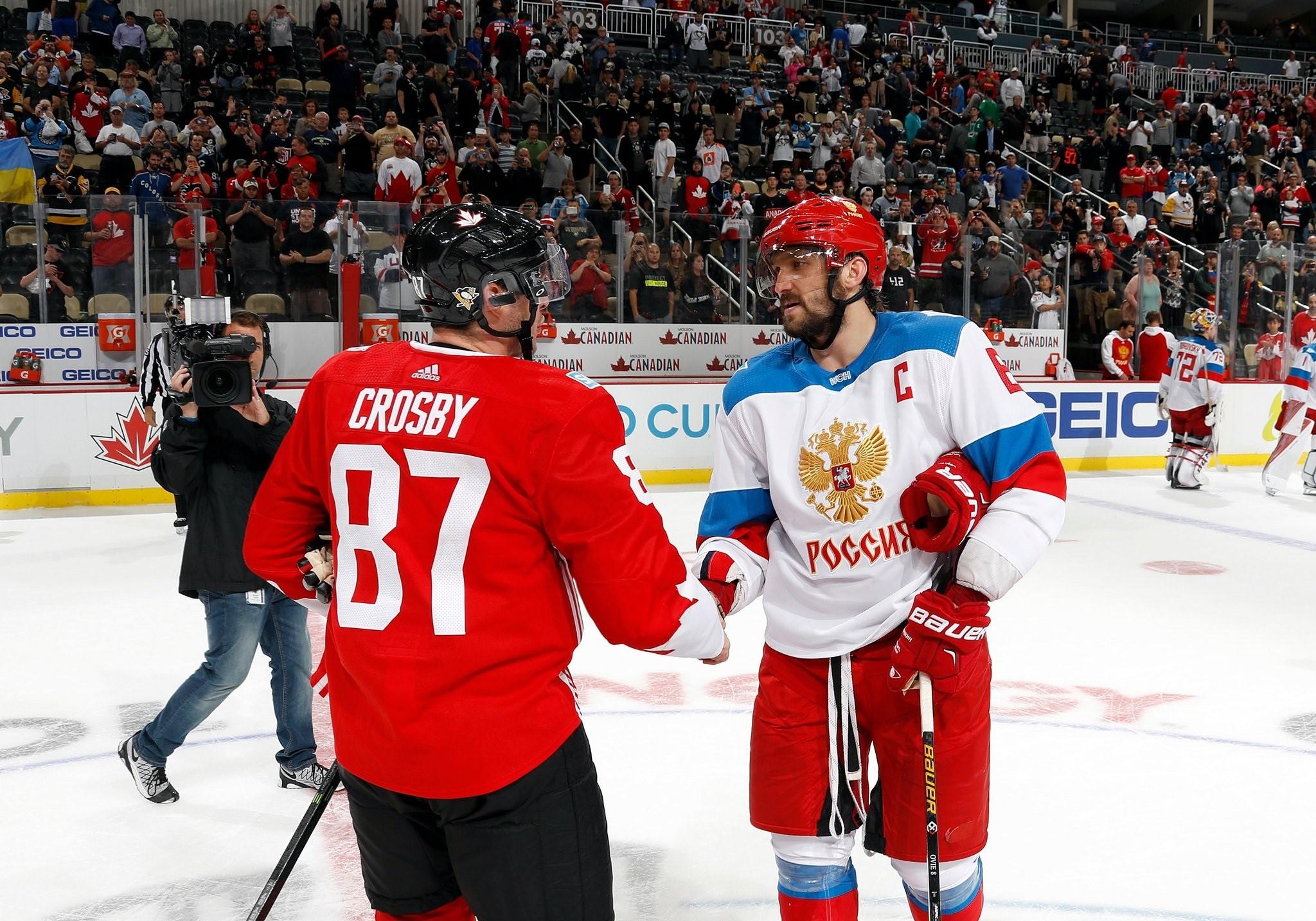 Сидни Кросби и Александр Овечкин перед матчем Канада – Россия – twitter.com/NHL