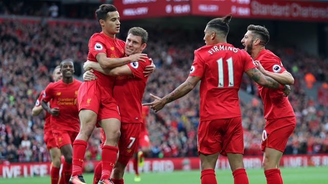 Liverpool rout Hull City to go third