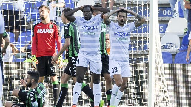 Udinese-Sassuolo: probabili formazioni e statistiche