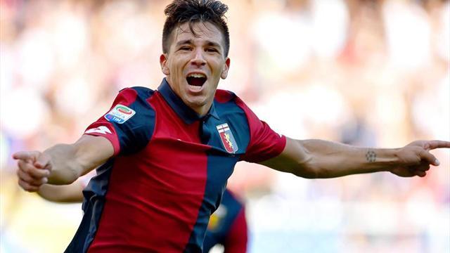 Gio Simeone y su primer gol en Italia