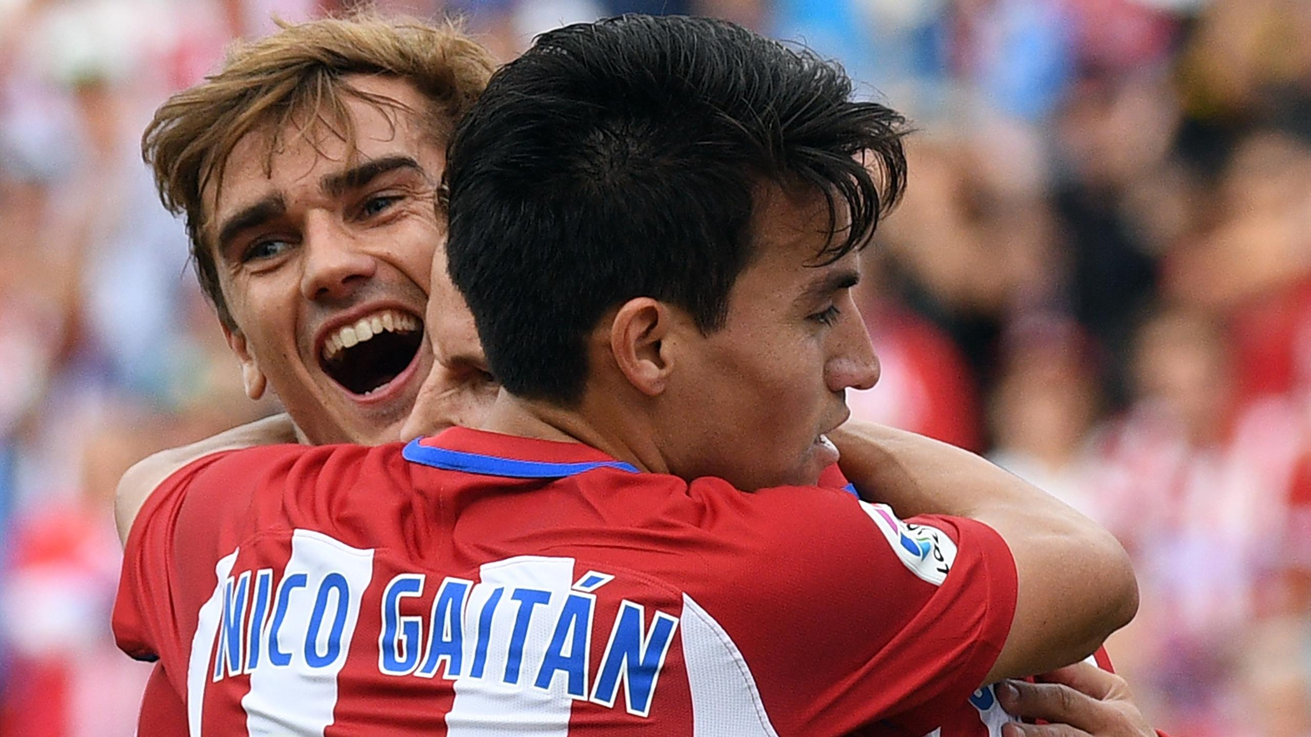Antoine Griezmann et Nicolas Gaitan (Atletico Madrid)
