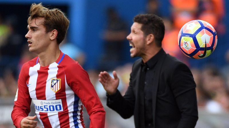 Antoine Griezmann et Diego Simeone (Atlético Madrid)