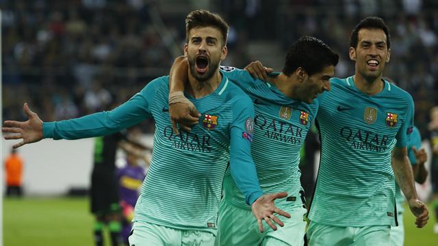 Le Barça renverse Mönchengladbach, City bute sur le Celtic