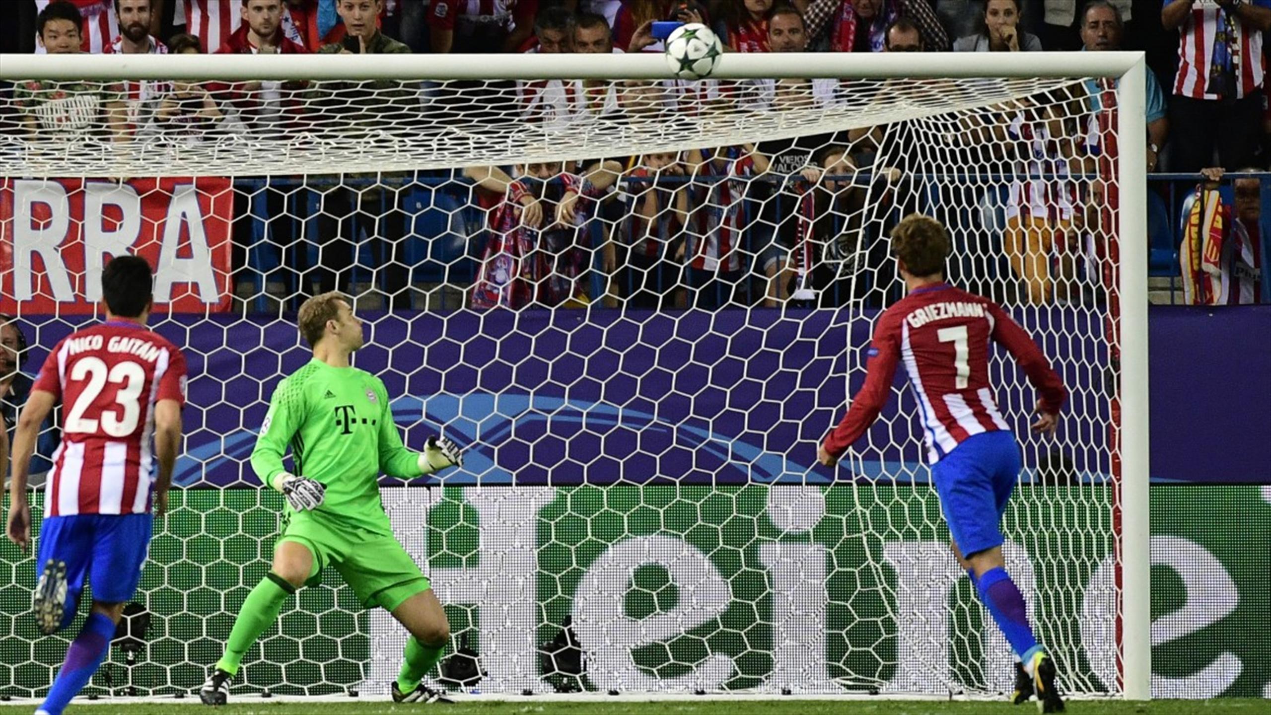 Antoine Griezmann a manqué la cible sur penalty face au Bayern Munich.