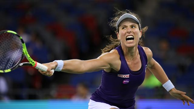 Konta's top-10 ambitions on hold after Wuhan defeat by Kvitova
