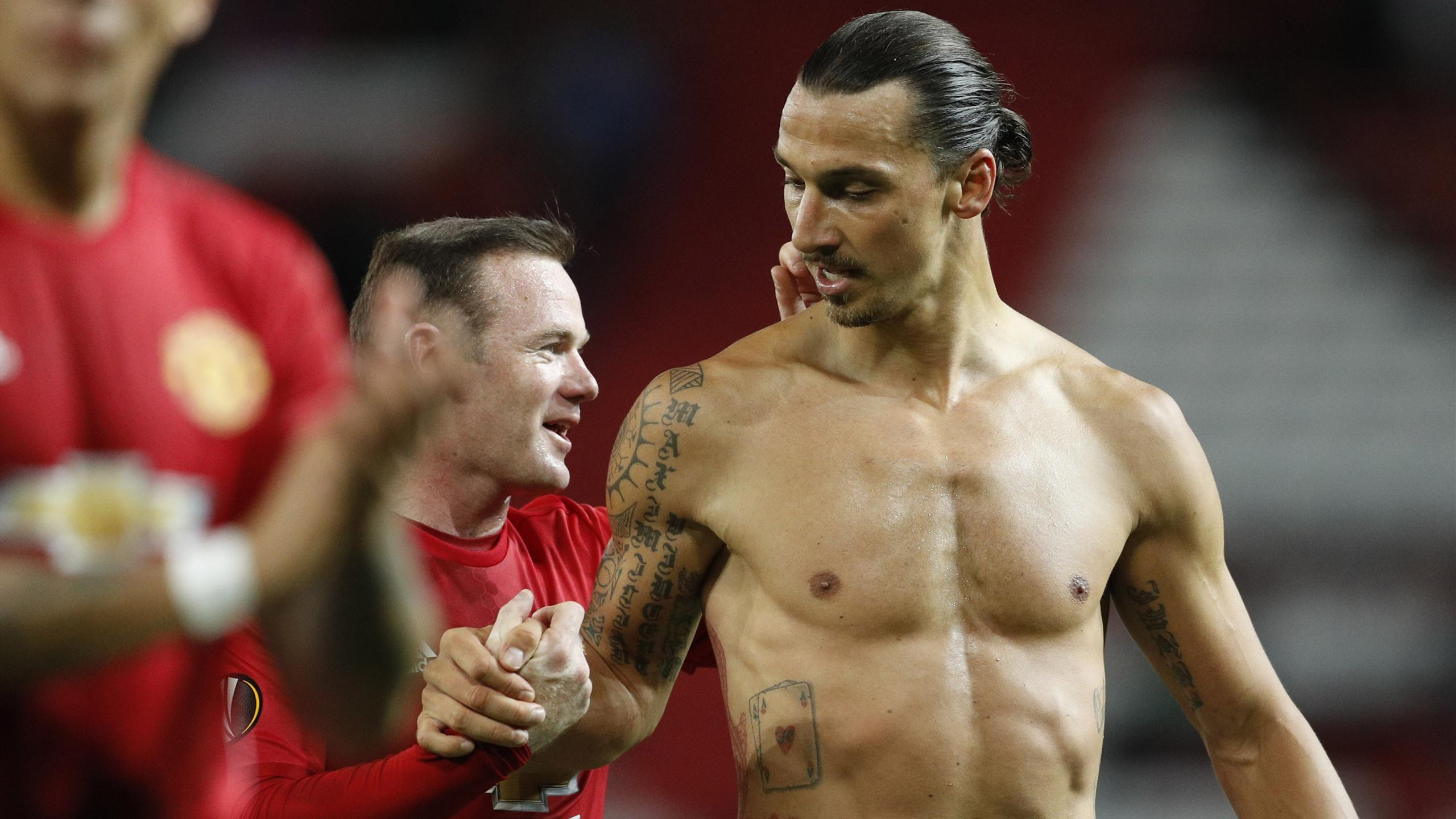 Manchester United's Wayne Rooney and Zlatan Ibrahimovic
