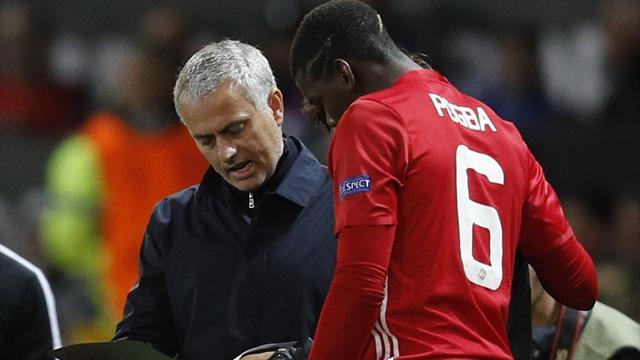 Mourinho : ''Sûrement les ischios pour Pogba''