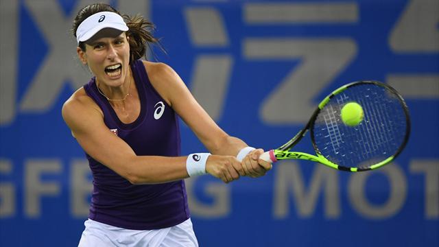 Konta positive despite defeat to Kvitova in China