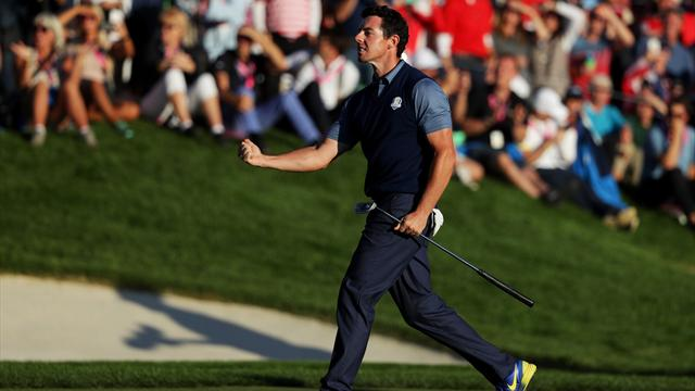 Gutsy Europe hit back against U.S. at Ryder Cup