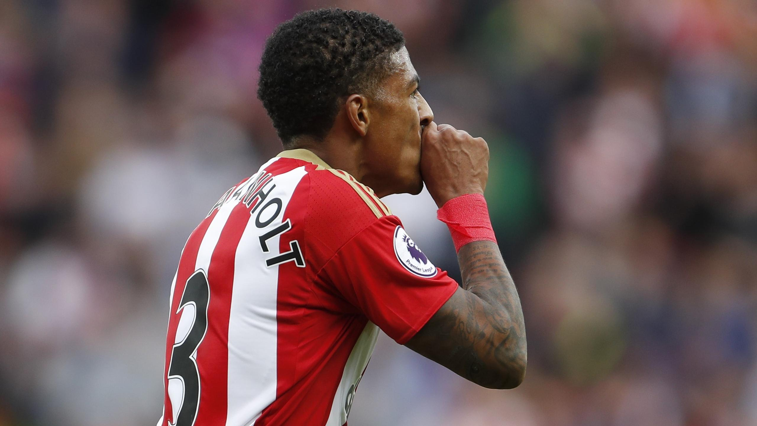 Sunderland's Patrick van Aanholt celebrates scoring their first goal