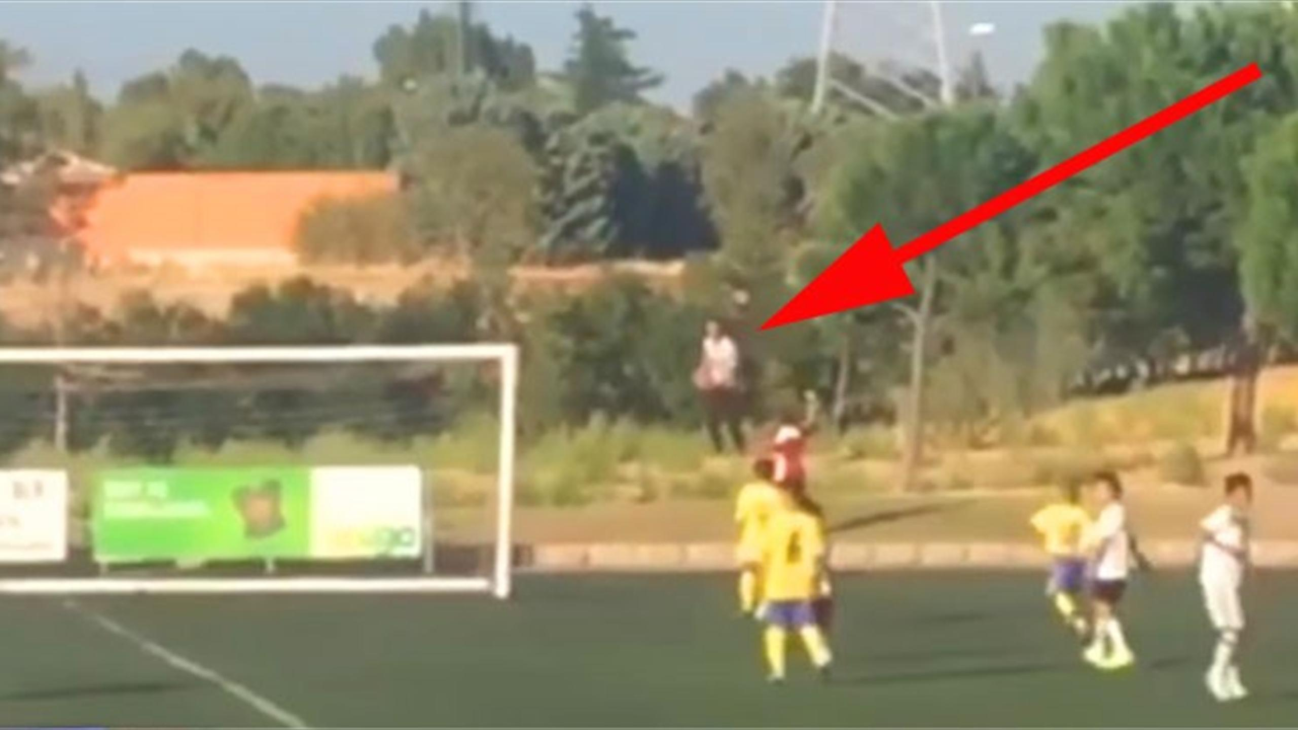 Cristiano Ronaldo becomes ball boy in sweet moment while watching his son play (Youtube)
