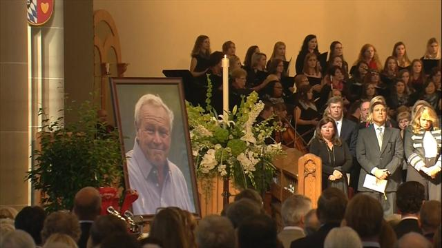 Emotional Nicklaus leads tributes at Palmer memorial service