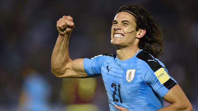 Avec un Cavani encore double buteur, l'Uruguay enchaîne