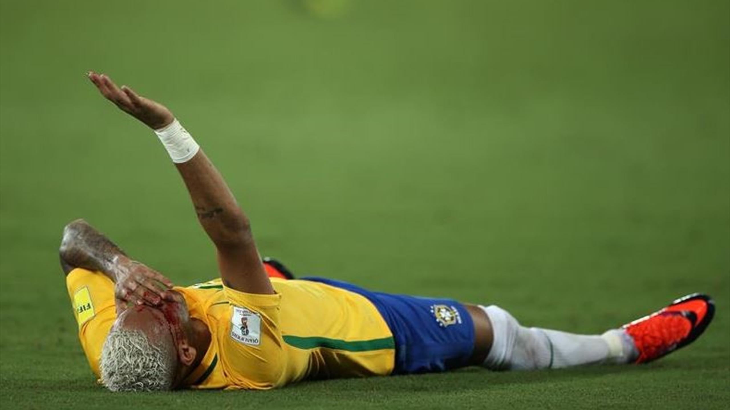 Neymar infortunato col Brasile
