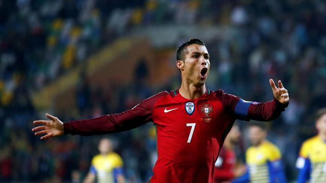 Роналду ни разу не забил после 44 ударов со штрафного на крупных международных турнирах