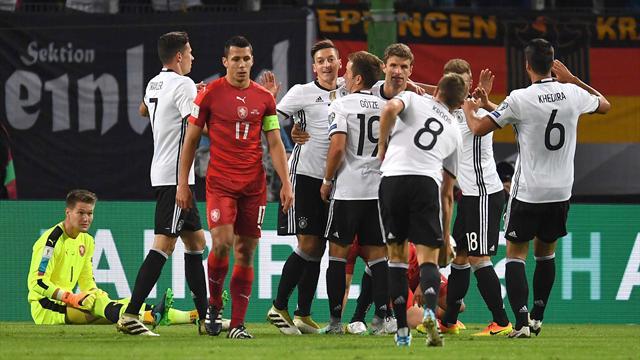 En démonstration, l'Allemagne n'a fait qu'une bouchée des Tchèques