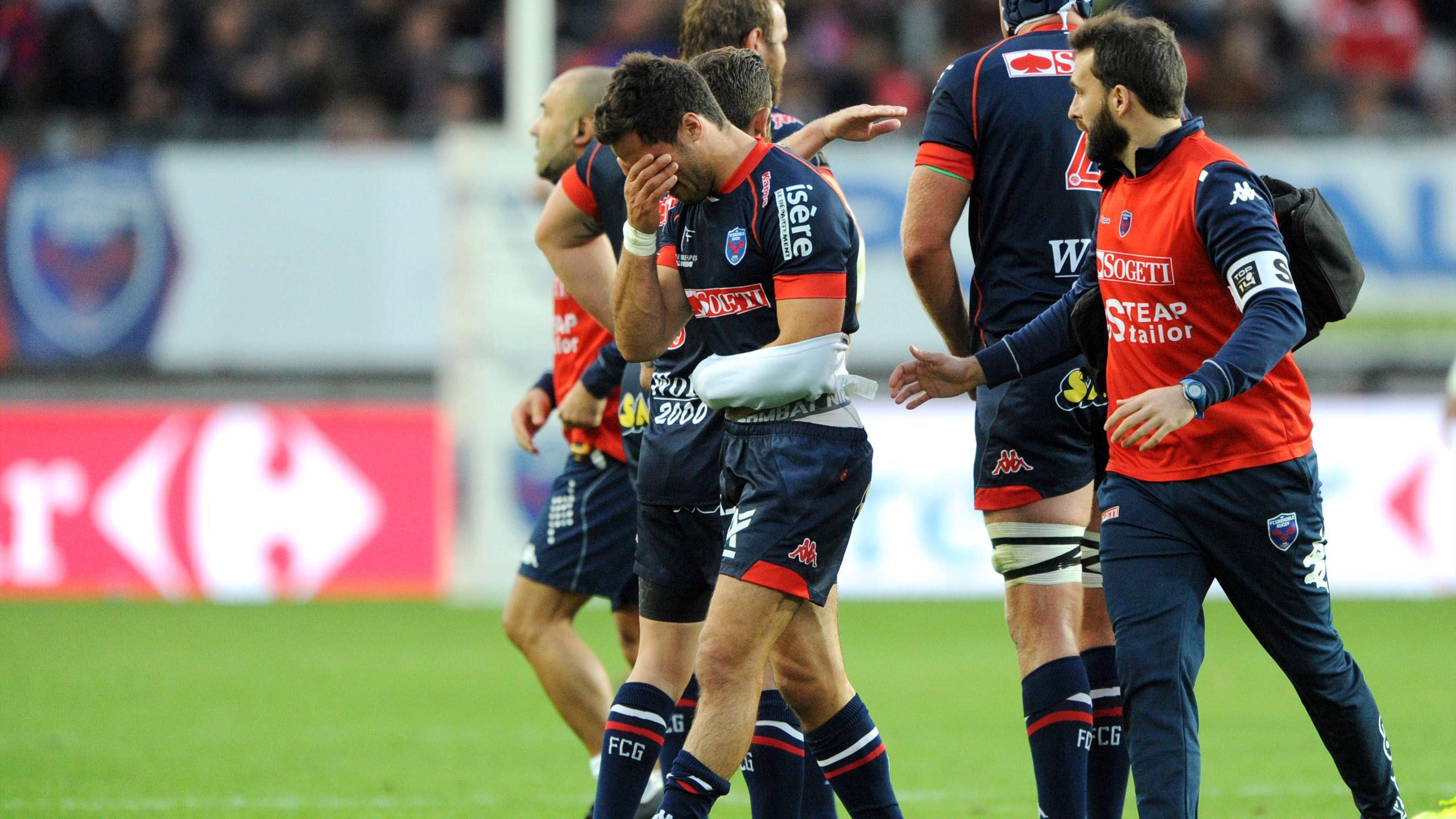 Lucas Dupont (Grenoble) sort blessé - 8 octobre 2016