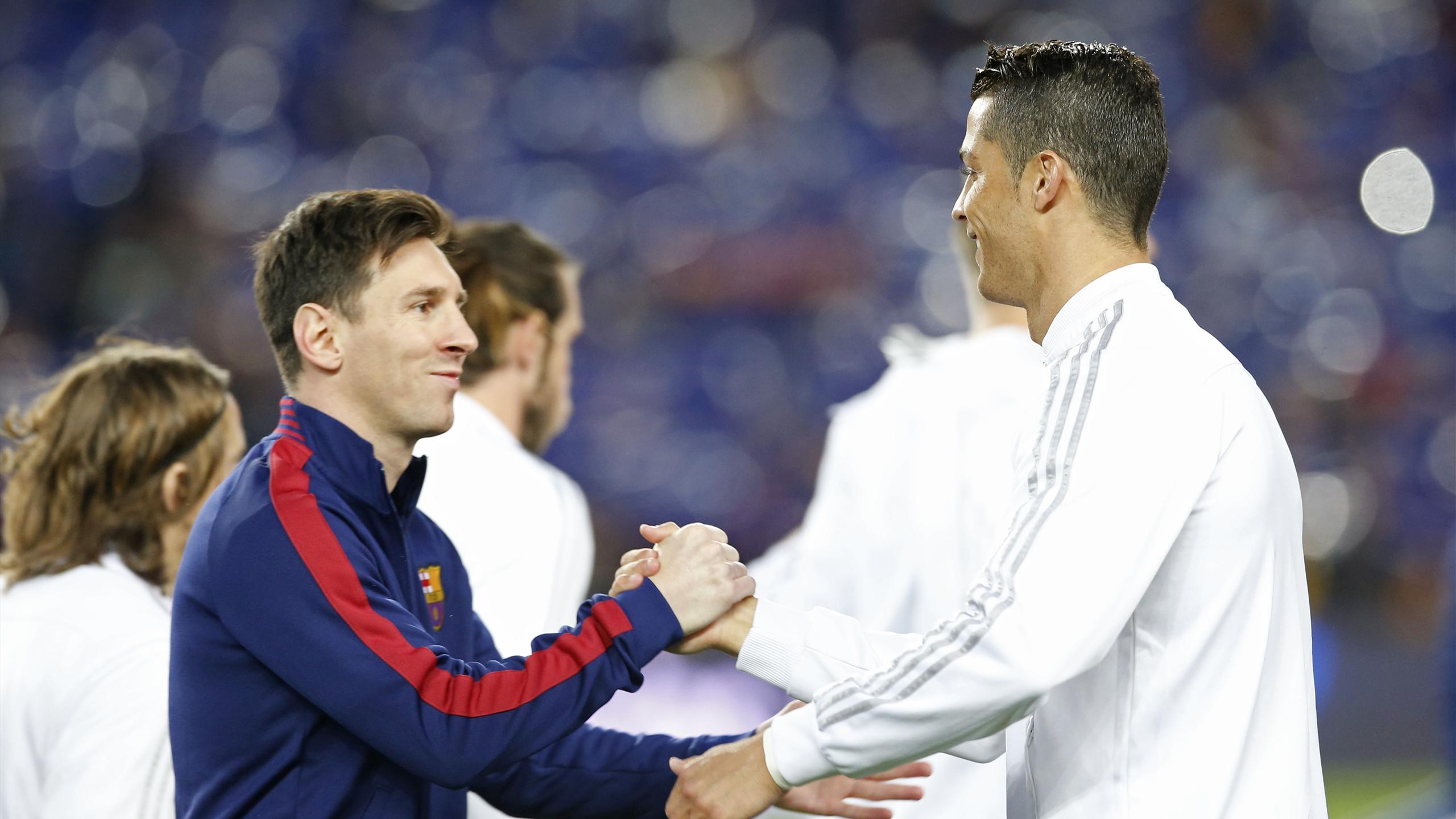 Barcelona's Lionel Messi and Real Madrid's Cristiano Ronaldo