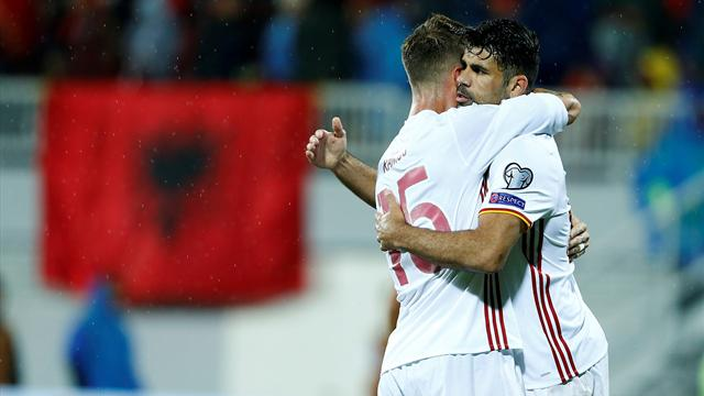 Costa and Nolito punish plucky Albania, but Ramos limps off injured
