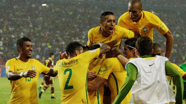 Willian and Gabriel Jesus score as Brazil beat Venezuela to go top in South America