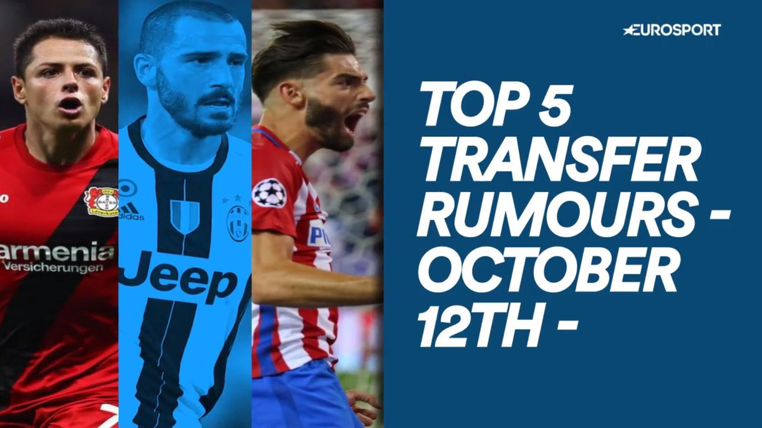 Top 5 Transfer Rumours: Bonucci rejects City for smaller Juve contract renewal