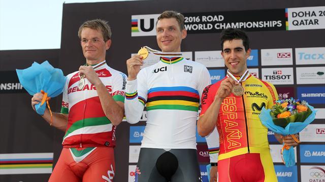 Champion du monde du chrono pour la 4e fois, Martin égale Cancellara