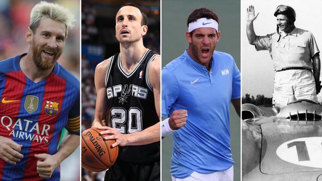 Messi, Ginobili, Del Potro, Fangio: Wo sind diese Stars des argentinischen Sports groß geworden?