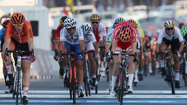 Dideriksen wins women's World Championship road race; Lizzie Deignan comes in fourth