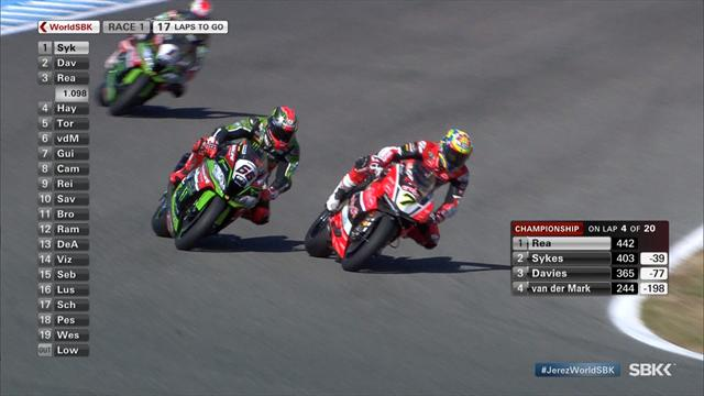 Davies storms to victory in Jerez, Rea closes on World Superbike title