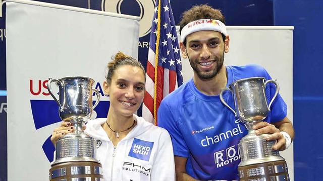 Serme makes US Open history while ElShorbagy lifts men's title