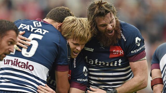 Bordeaux-Bègles fait chuter l'Ulster grâce à un finish de feu