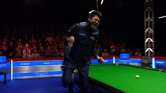 Liang jumps for joy after winning English Open title