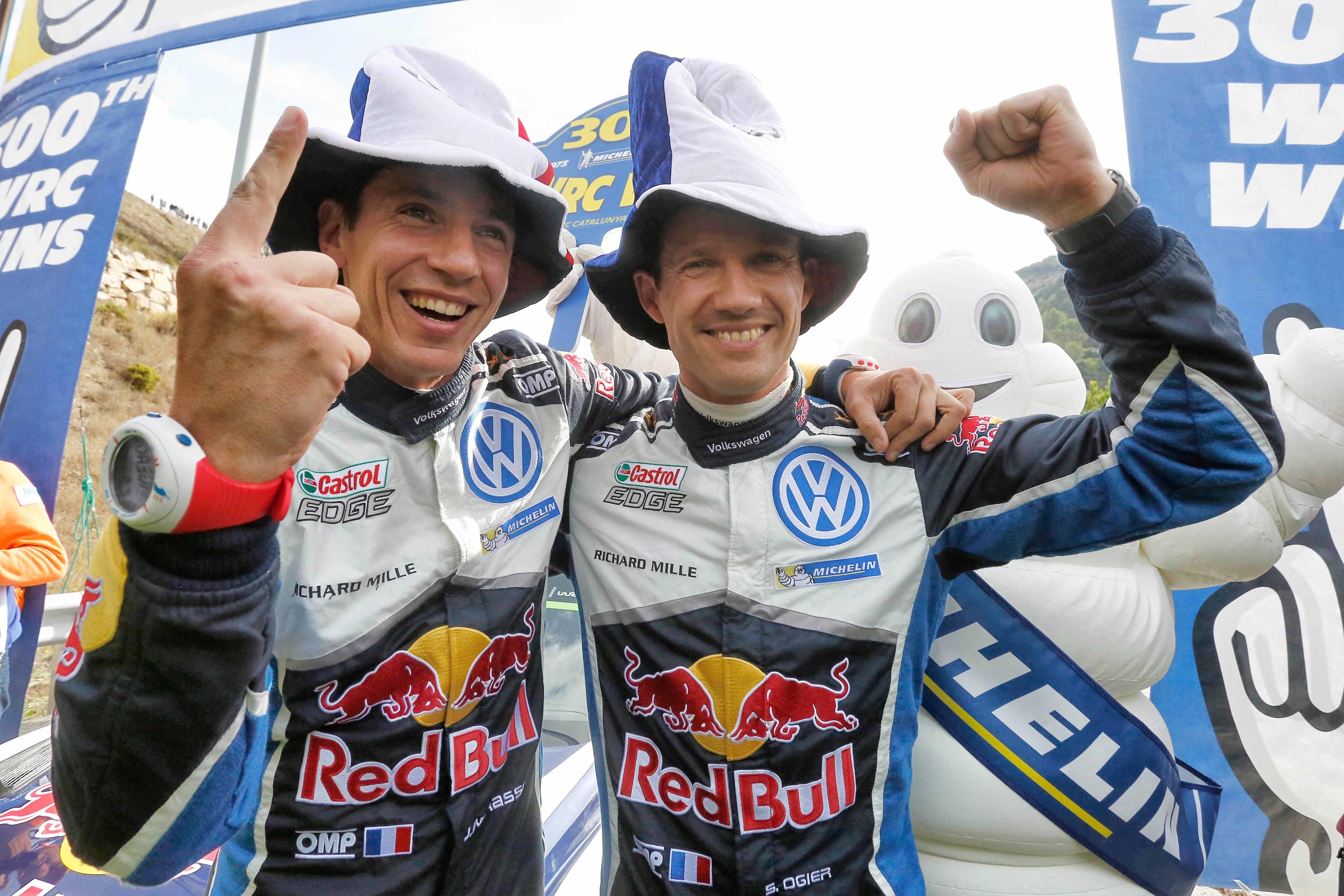 Sébastien Ogier et Julien Ingrassia (Volkswagen) au Rallye d'Espagne 2016