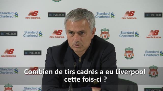 """Mourinho : """"C'est Liverpool que vous devez critiquer, pas nous"""""""