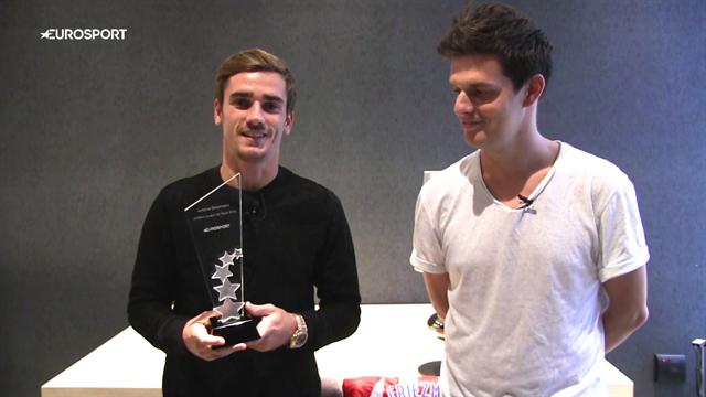 """Griezmann : """"Merci aux internautes d'Eurosport.fr de m'avoir élu meilleur joueur de l'Euro 2016"""""""