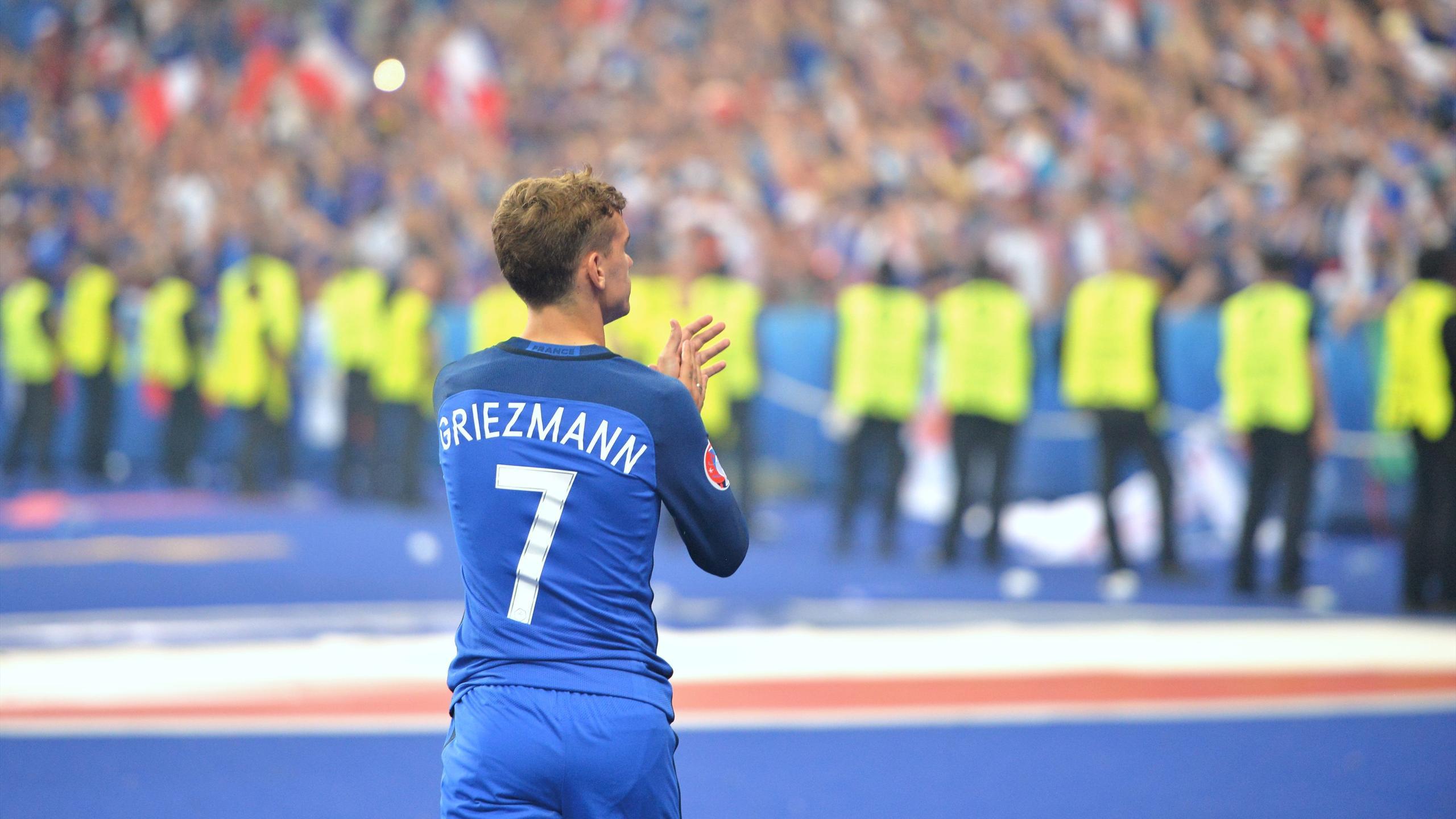 Antoine Griezmann après la défaite en finale de l'Euro face au Portugal