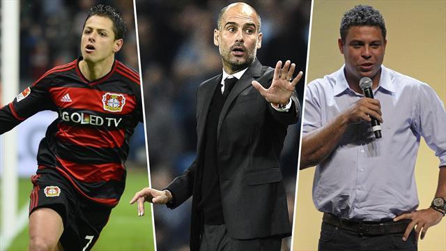 Chicharito, Guardiola y Ronaldo, los nombres del día