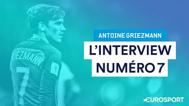"""Ribéry, Beckham, Cristiano Ronaldo... L'interview """"n°7"""" d'Antoine Griezmann"""