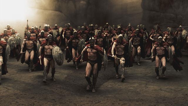 Трое бельгийских полицейских решили, что они спартанцы, и сдержали толпу фанатов в узком переходе