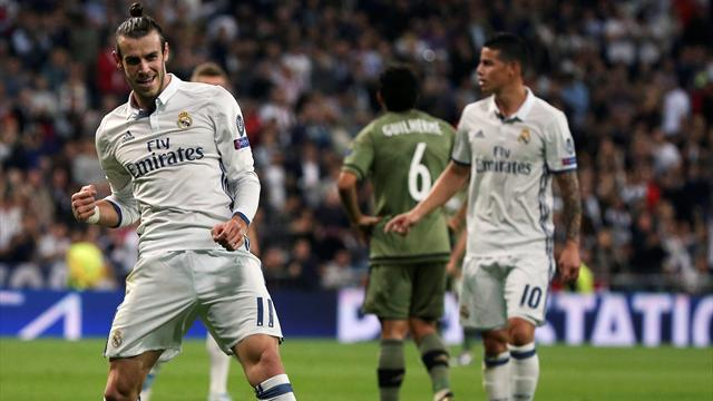 Bale ends his European drought as Real Madrid hit five past Legia Warsaw