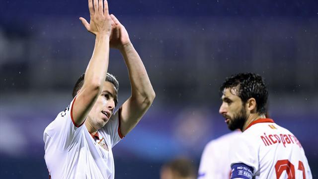 El Sevilla gana al Zagreb con un solitario gol de Nasri (0-1)