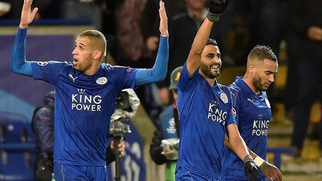 1-0. Mahrez prolonga el sueño del Leicester y lo deja a un paso de octavos