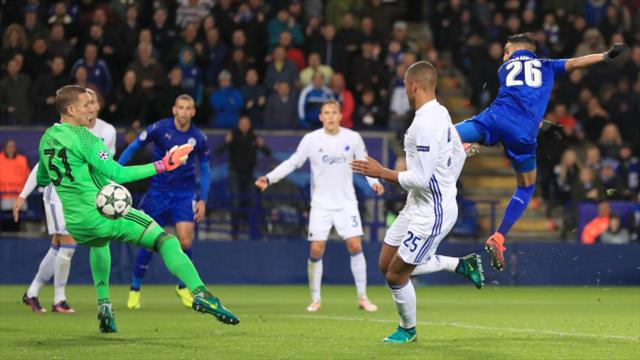 Leicester on course for knockout stages thanks to Riyad Mahrez strike