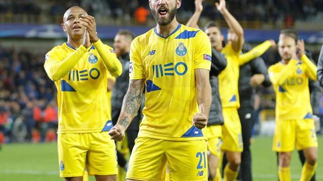 1-2. El Oporto remonta en el descuento ante el Brujas