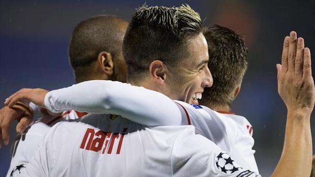0-1. El Sevilla da un gran paso hacia los octavos de final
