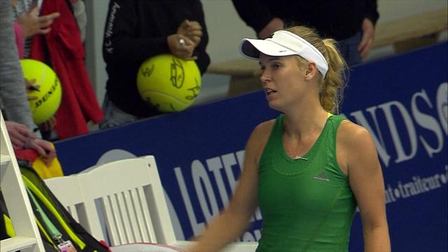 Wozniacki beats Madison Brengle