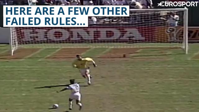 Football has had some pretty odd rules - very odd