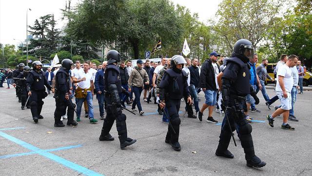 13 Legia-Fans nach Randale in Madrid festgenommen